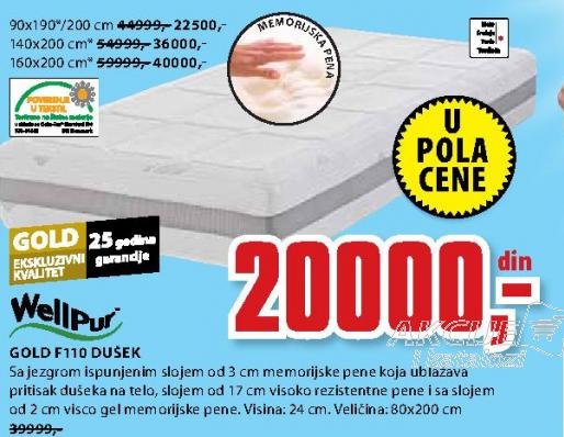 Dušek, Gold F110 90x190/200 cm