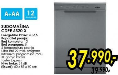 Mašina za pranje sudova Cdpe 6320 x