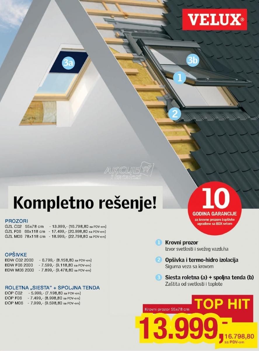 Roletna Siesta + Spoljna tenda Dcp M06 Velux