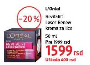 Krema za lice Revitalift Laser Renew