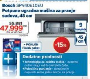 Ugradna Mašina Za Pranje Sudova Spv40E10Eu