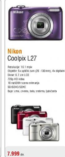 Fotoaparat digitalni Coolpix L27