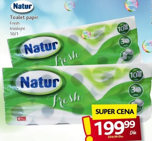 Toalet papir 3sl Natur Fresh
