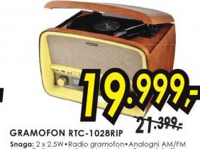 Gramofon RTC  - 1028RIP