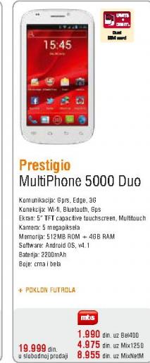 Mobilni telefon MultiPhone 5000 Duo