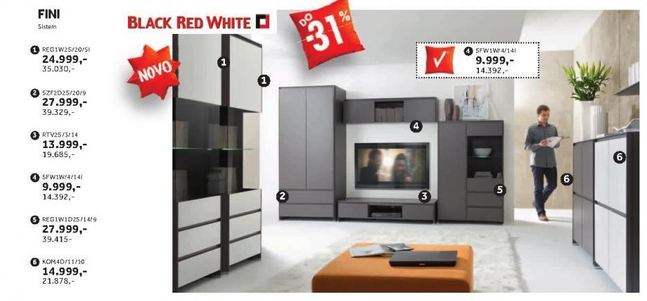 Regal Reg1w1d2s/14/9 Fini Black Red White