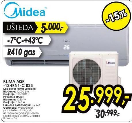 Klima uređaj Msr-12hrn1-c R23
