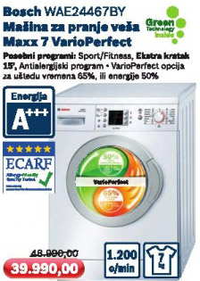 Mašina za pranje veša Wae24467by