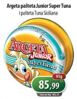 Pašteta super tuna junior