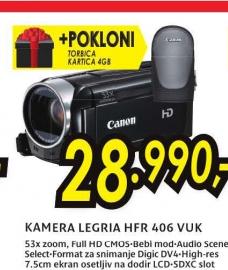 Digitalna kamera Legria HF-R406 VUK