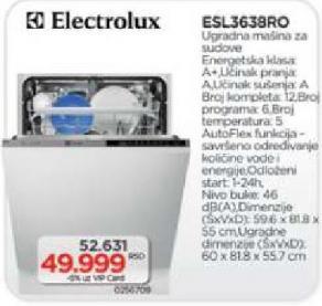 Ugradna sudo mašina ESL 3638 RO