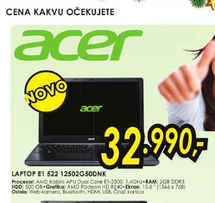 Laptop Aspire E1-522-12502G32Dnkk