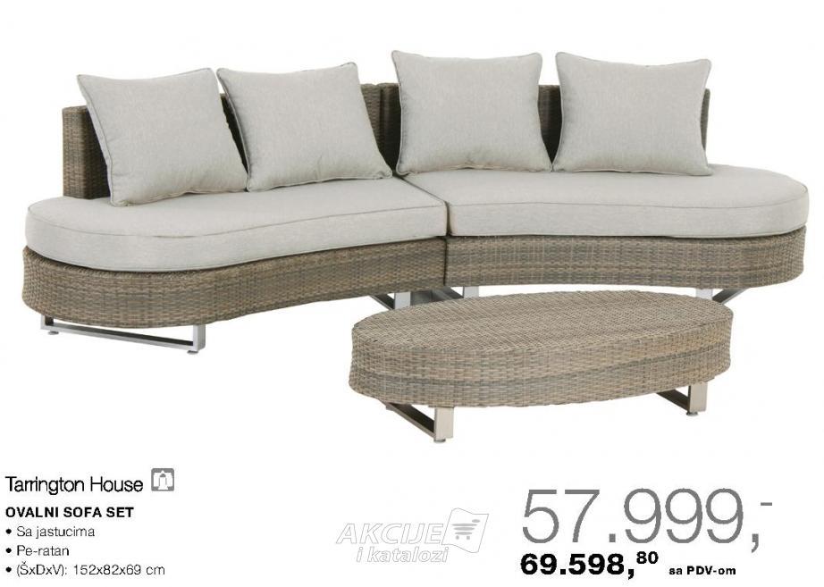 Ovalni sofa set
