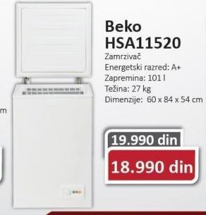 Horizontalni zamrzivac HSA11520