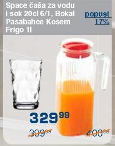 Čaša za vodu i sok 20cl