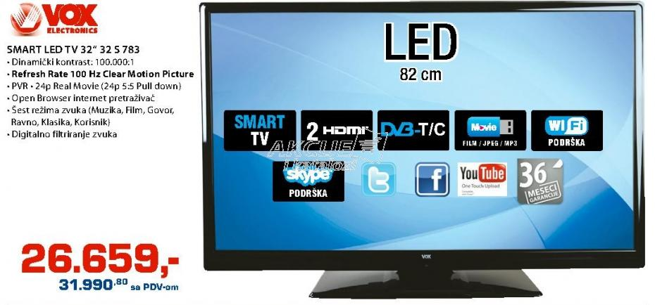 """Televizor LED 32"""" 32S783"""
