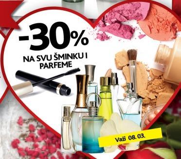 Popust na šminku i parfeme