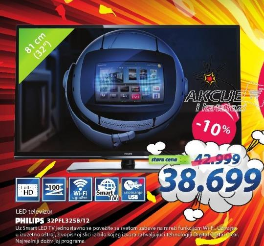 "Televizor LED 32"" 32pfl3258/12"