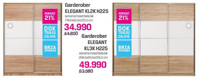 Garderober Elegant KL2K H225