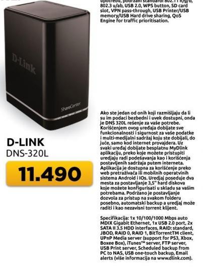 Network Storage Dns-320l D-Link