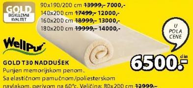 Naddušek Gold T30 140x200 cm