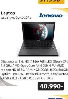 Laptop G505 AMD QuadCore A4-5000