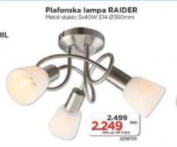Plafonska lampa Raider