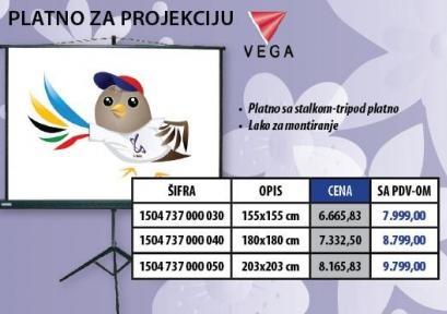 Platno za projekciju Vega