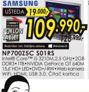 Laptop NP700Z5C S01RS+Poklon: Goclever tablet TERRA 70L