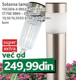 Solarna lampa 10,5X10.5X35 8168
