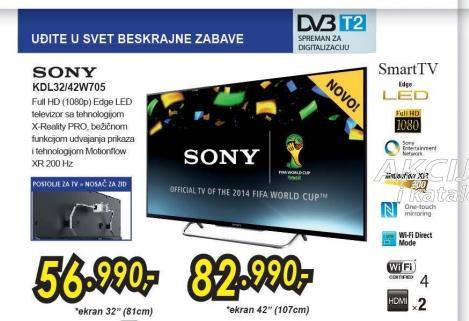 Televizor LED LCD KDL-42W705BBAEP