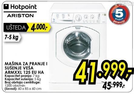 Mašina za pranje i sušenje veša Armxxl 125 Eu Ha