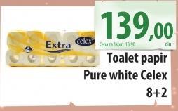 Toalet papir 2sl pure white