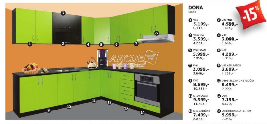 Kuhinjski element D60 Dona