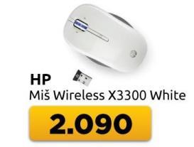 Miš bežični x3300 White
