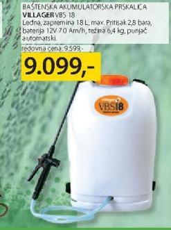 Baštenska akumulatorska priskalica VBS 18