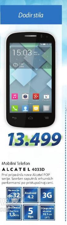 Mobilni telefon  GSM telefon ONE TOUCH 4033D-POP