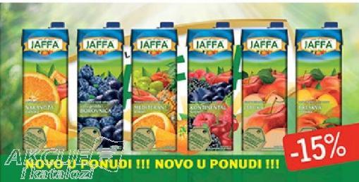 -15% na Jaffa sokove