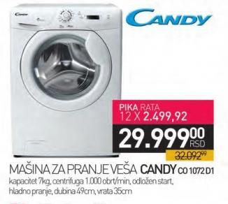 Mašina za pranje veša Co 1072 D1