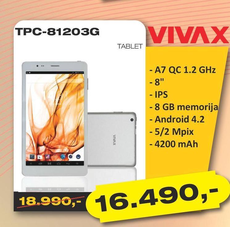 Tablet TPC-81203G