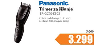 Trimer za šišanje ER-GC20-K503