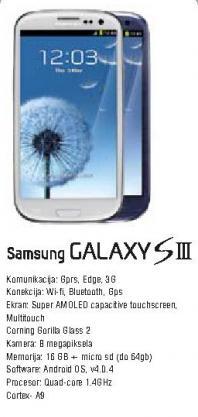 Telefon mobilni Galaxy SIII