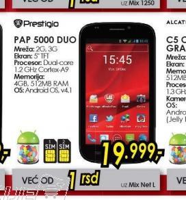 Mobilni telefon MultiPhone PAP5000DUO