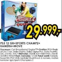 Konzola PS3 12GB Sports Champs Kamera Move