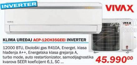 Klima uređaj Acp-12ch35geei Inverter