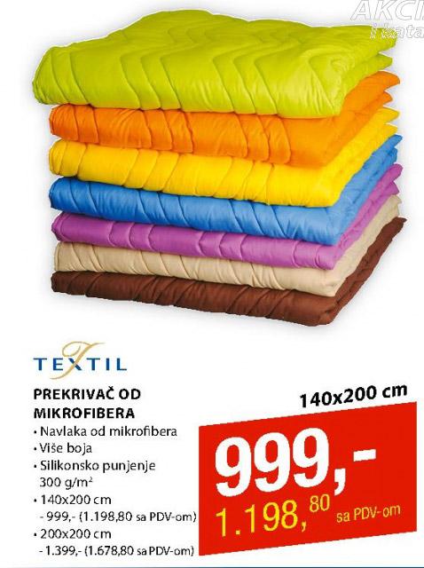 Prekrivač od mikrofibera, Textil