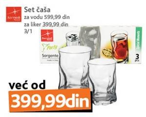 Set čaša za vodu