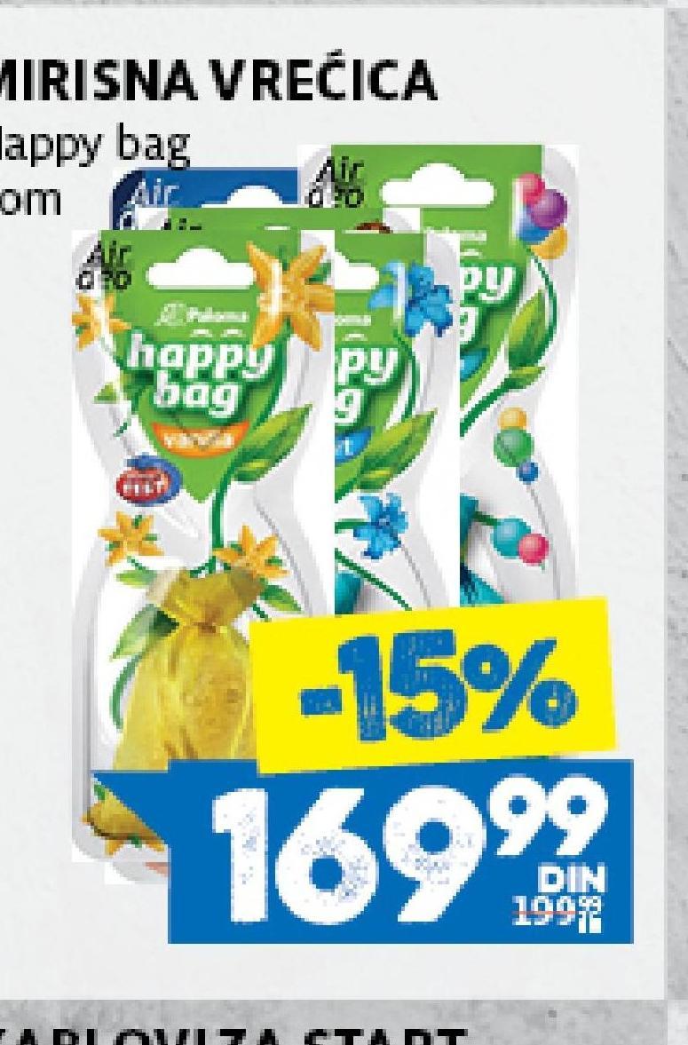 Osveživač Happy Bag
