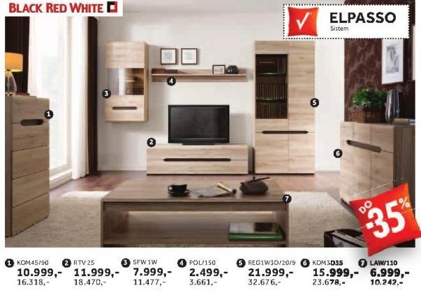 Rtv komoda Rtv2s Elpasso Black Red White