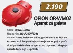 Aparat za galete Or-Wm02 Orion